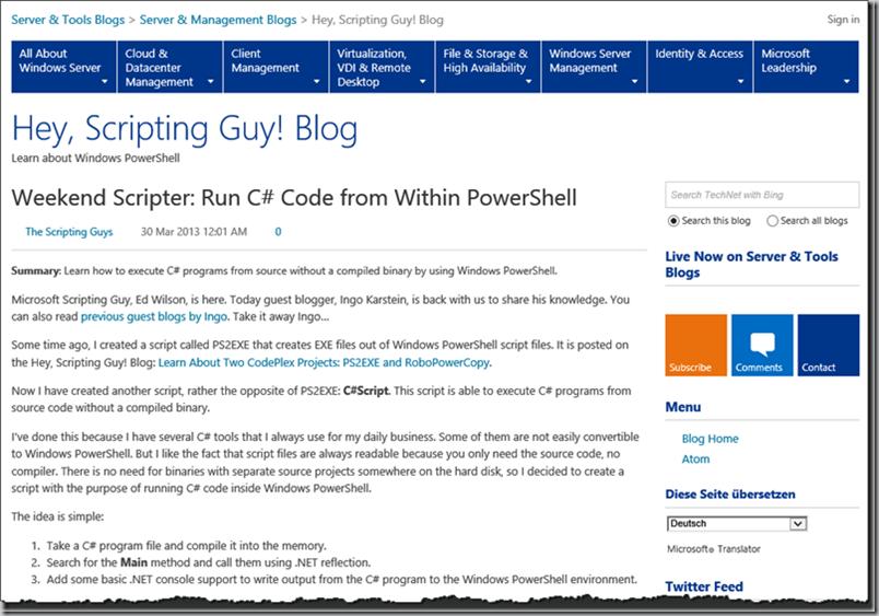 Guest Blog Article On Hey Scripting Guy Blog Weekend