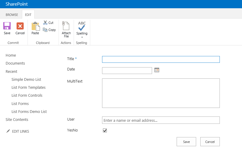sharepoint 2013 list forms  new small framework project to